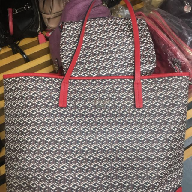 Original Guess Big Red Tote Bag on Carousell