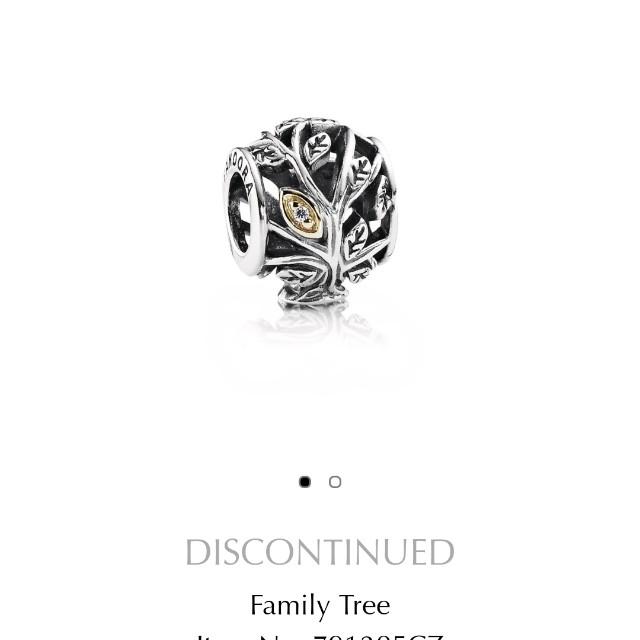 Pandora 潘朵拉 絕版 14k金+銀 家庭樹
