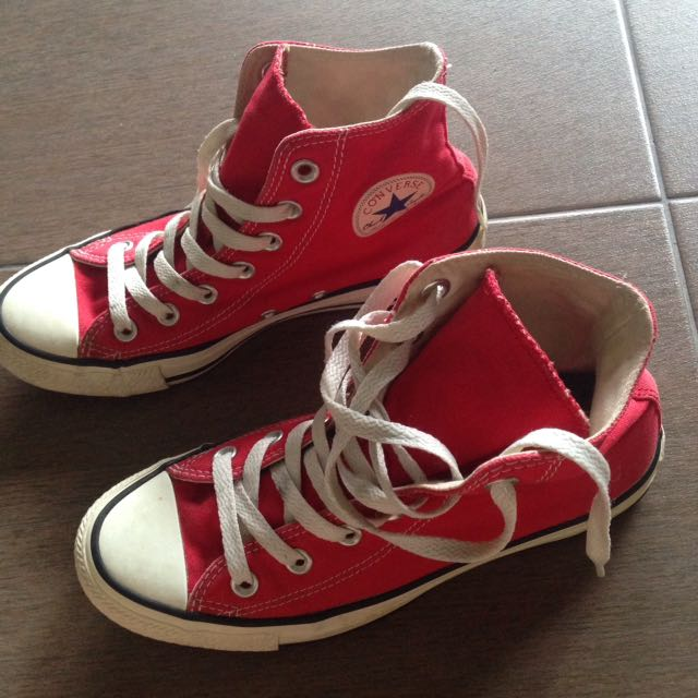 66142fb5be3f PRELOVED CONVERSE HIGH CUT RED