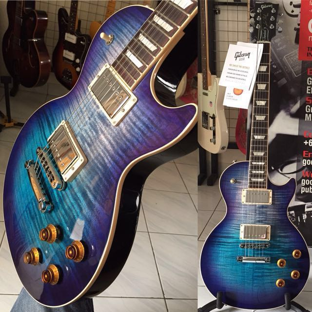 PRE-OWNED 2017 GIBSON USA LES PAUL STANDARD T BLUEBERRY BURST