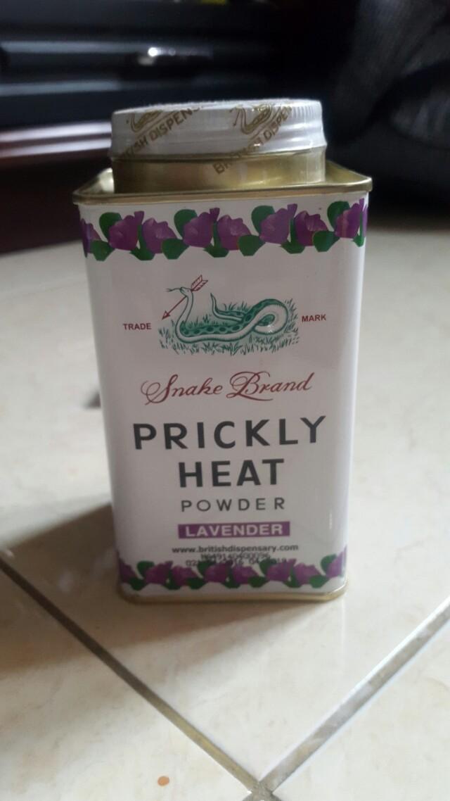 Prickly heat bedak tabur aroma lavender