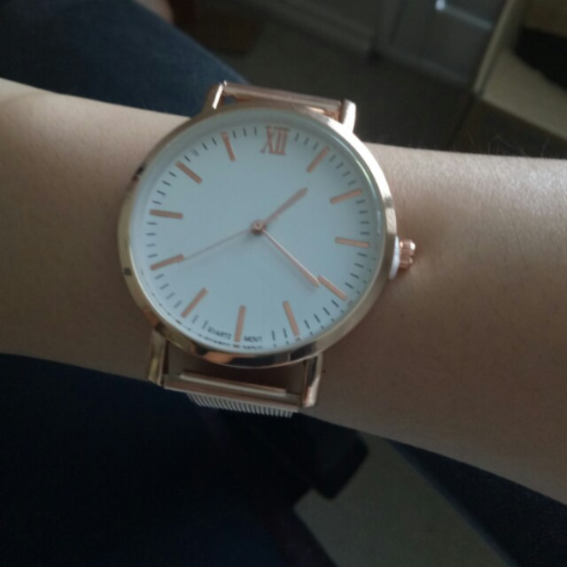 Rose gold unbranded watch