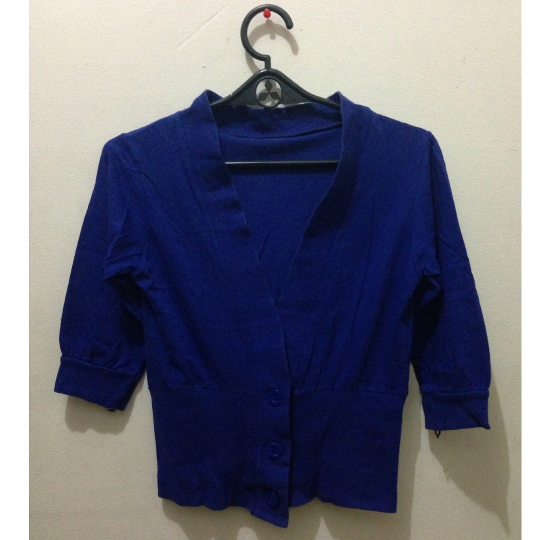 royal blue blazer cardigan