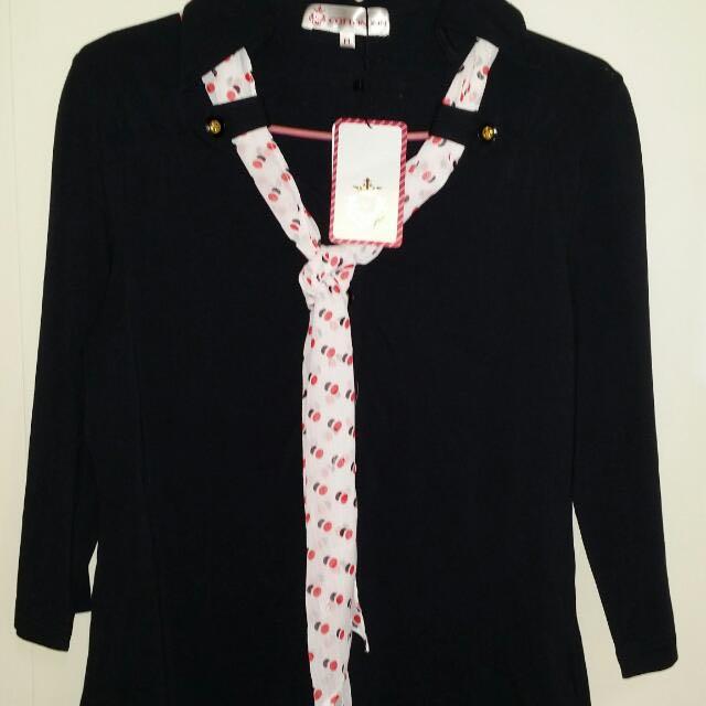 專櫃正品scottish house黑色長袖上衣M號 全新 吊牌未拆降價