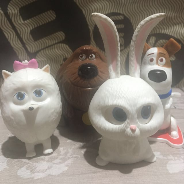 Secret Life of Pets Mcdonald Toys Set