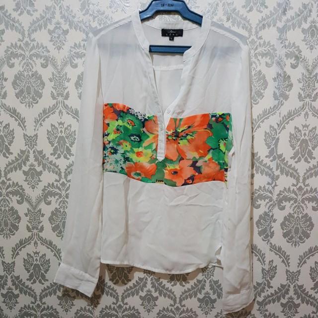 Sheer Blouse (printed white)