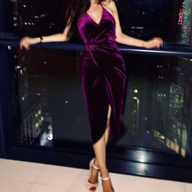 Sheike purple/burgundy wrap dress size 6