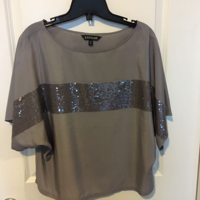 Silver top with sequins