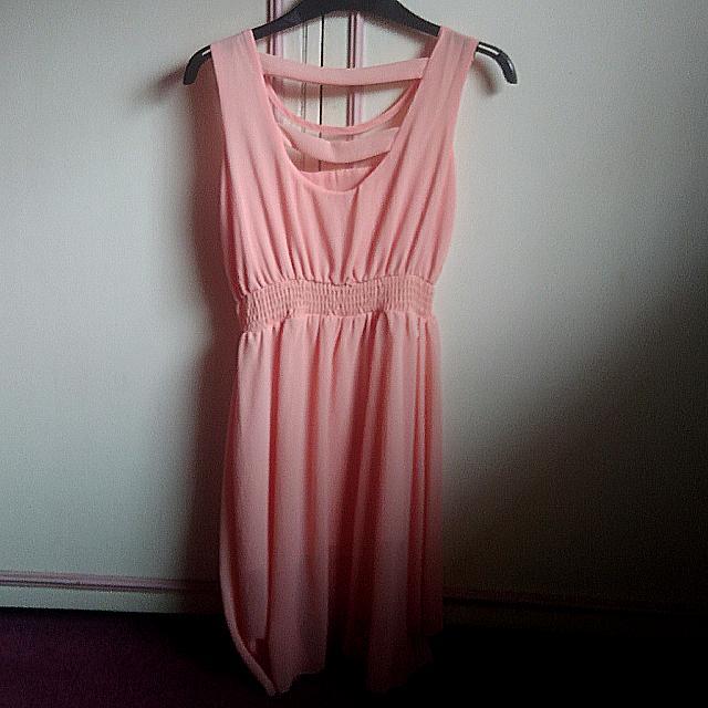 Sleevless Short Pink Dress