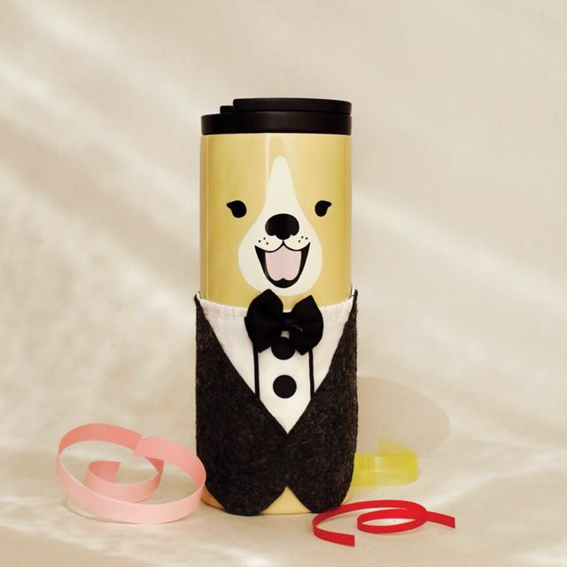STARBUCKS TUMBLER DOG TUXEDO 2018 LIMITED EDITION