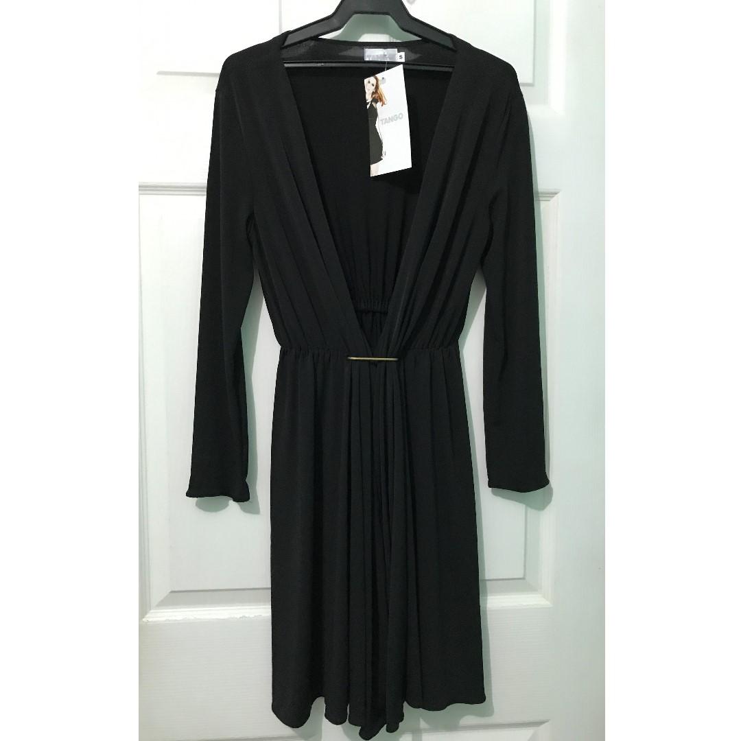 Tango Black Structured Dress
