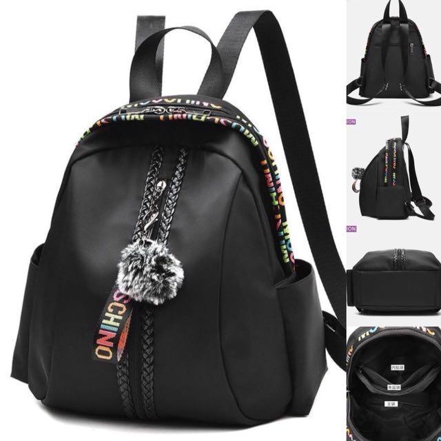 Tas Ransel Gendong Moschino Backpack Tas Fashion Wanita Cewek 83172 ... 8b7b8be61d