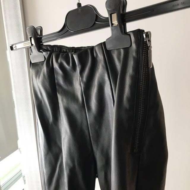 Top shop petite leather pants