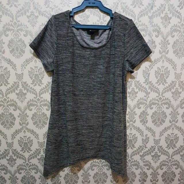 Trendy Long Gray Top
