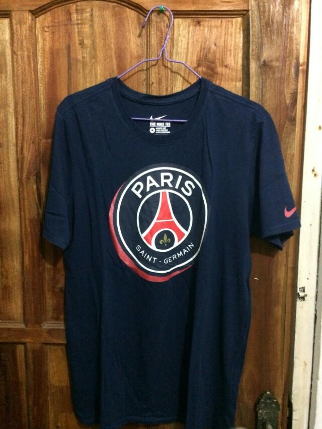 T Shirt Psg Merch Original From Paris Fesyen Pria Pakaian Atasan Di Carousell