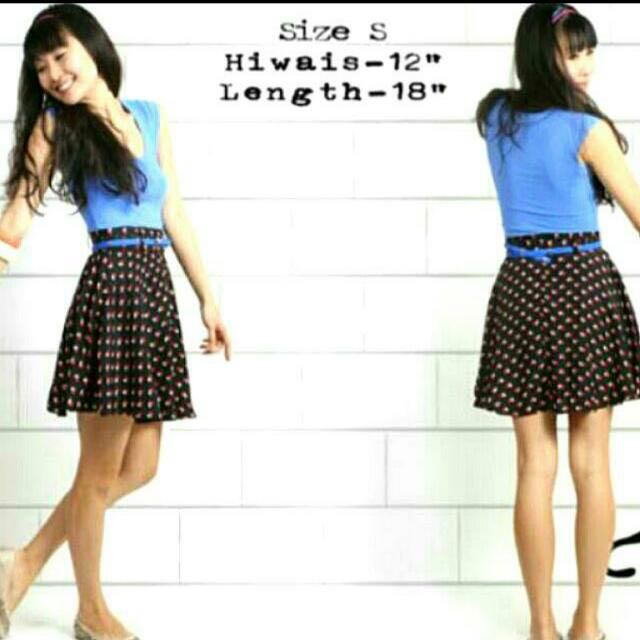 TTR / LRH Summer Pleated Side Skirt (Hearts - Size S)