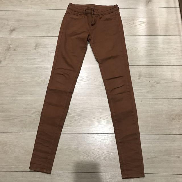 Uniqlo Uj 色褲 鉛筆褲 窄管褲