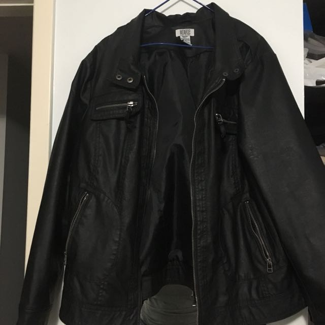 Unisex vintage leather jacket