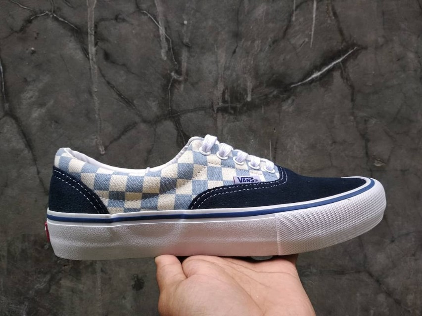 f5183691f1 Vans Era Pro Checkerboard Dress Blue  Marshmallow