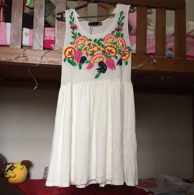 Voir Embroided Skater Dress