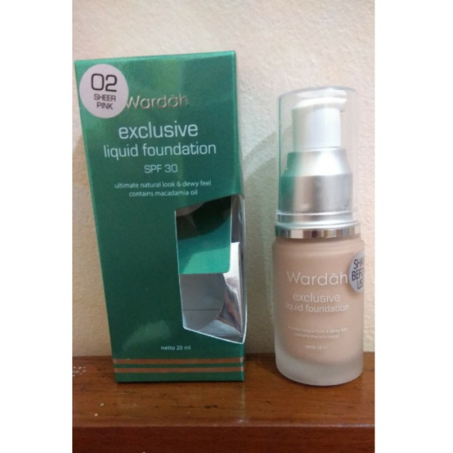 Wardah Exclusive Liquid Foundation Shade Sheer Pink
