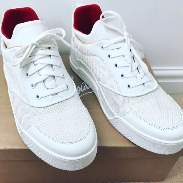 a6c90a271 White Christian Louboutin Aurelien, Men's Fashion, Footwear, Sneakers on  Carousell