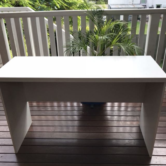 White study table