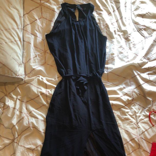 Womens Full Length Navy Blue Formal Dress Myer Size 8 Womens