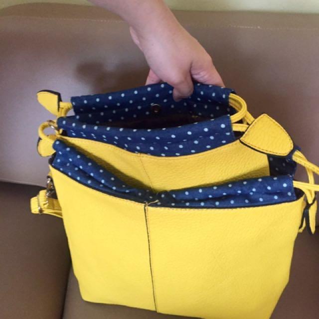 Yellow Orange Bags