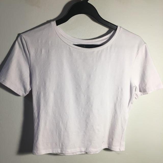 90ef8141192085 ZARA Basic White Crop Top, Women's Fashion, Clothes, Tops on Carousell