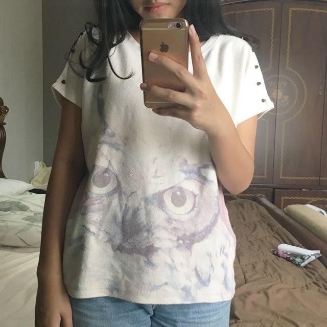 Zara Owl Top