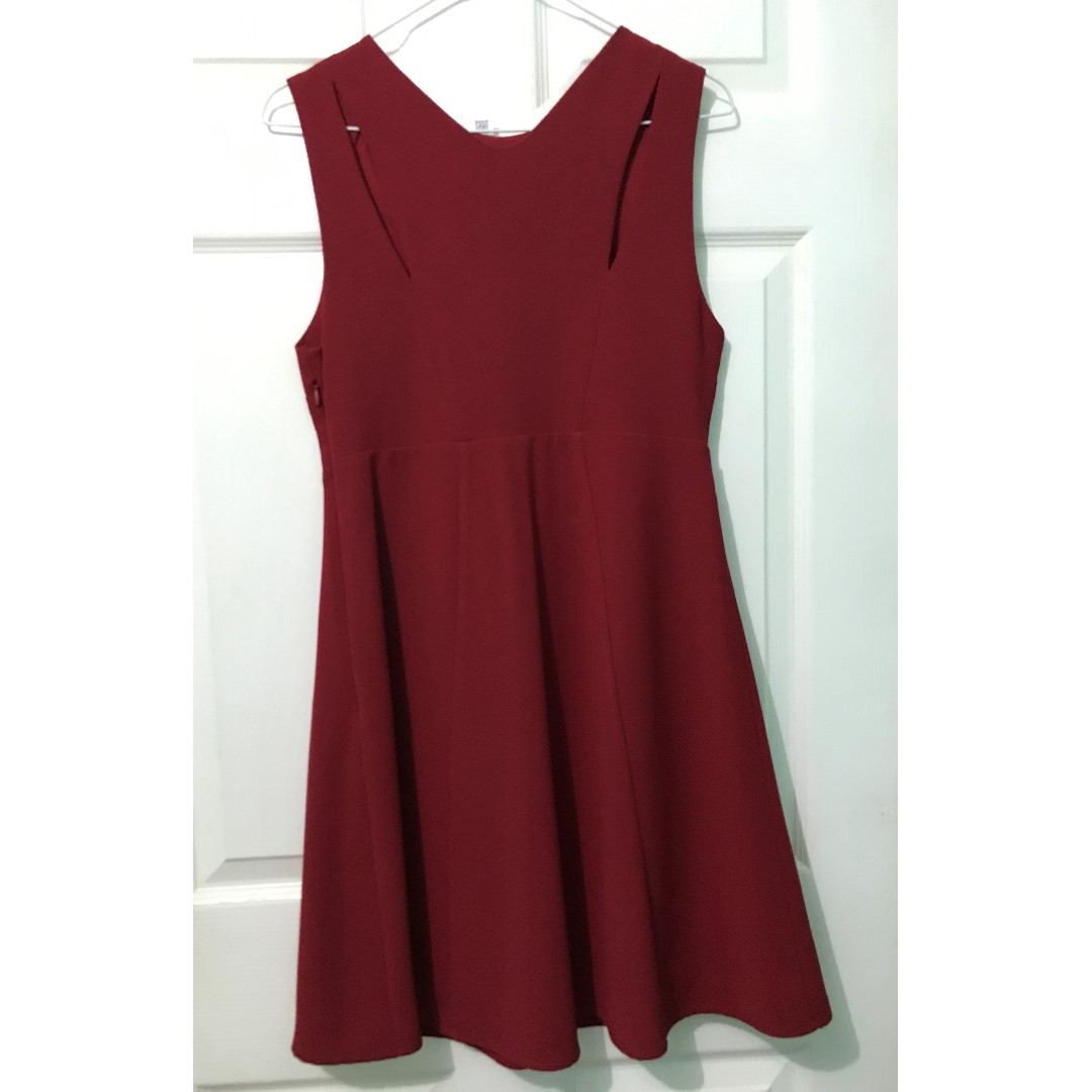 Zara Red Cutout Dress