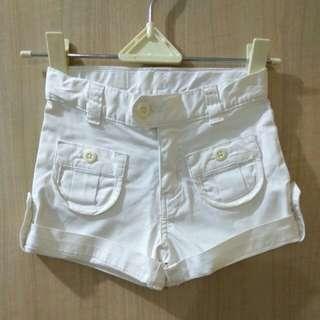 Place White Short Pants
