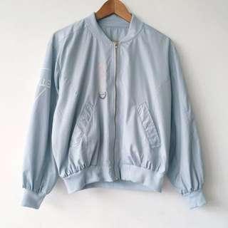 Pastel Blue Repellent Bomber Jacket