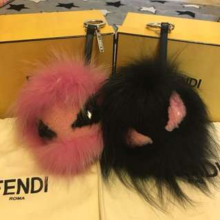 Fendi monster pink&black