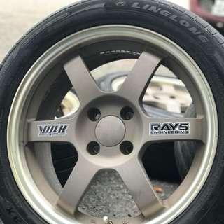 Te37 16 inch sports rim alza tyre 70% .
