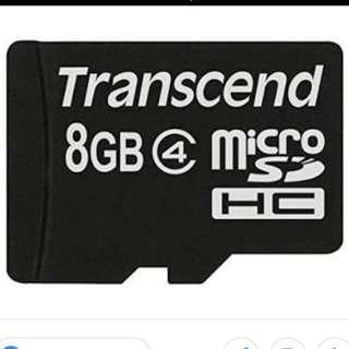 8 GB Memlry Card
