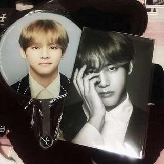 BTS The Final merchandise - V Image Picket + Premium Postcard