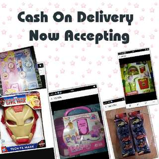 Cash on delivery for the ff places.