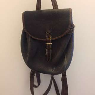 Vintage Leather Roots Purse & backpack