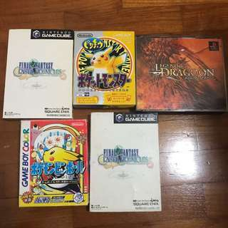 Vintage Lot of Games - GameCube, PS1, Gamboy