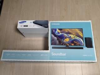 Samsung sound bar +3D Blue Ray player
