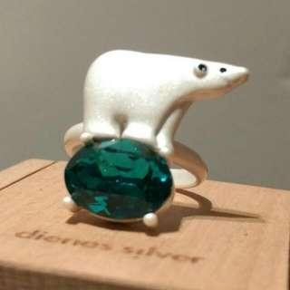 🚚 北極熊綠寶石戒指