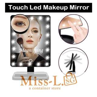 ✌🏻 TOUCH LED MIRROR WITH 10X MAGNIFYING