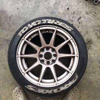 Proxes toyo tires (t1r) - include Rim from CS3