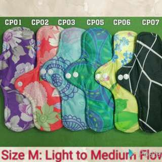 Qissara Bamboo Charcoal Cloth Pad (M)