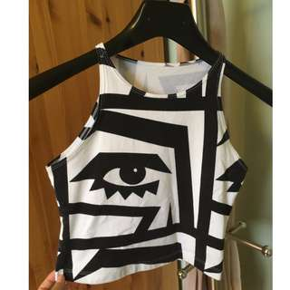 American Apparel Printed Crop top (Size XS)