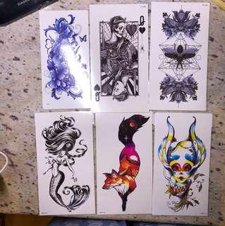 大紋身貼紙 Big tattoo stickers
