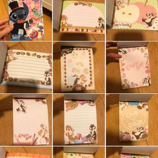 Tokyo chip and & dale memo note pad