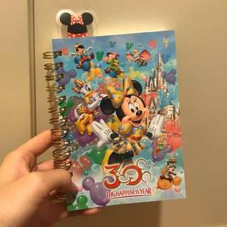 Tokyo 30th anniversary disneyland resort minnie mouse and friends notebook